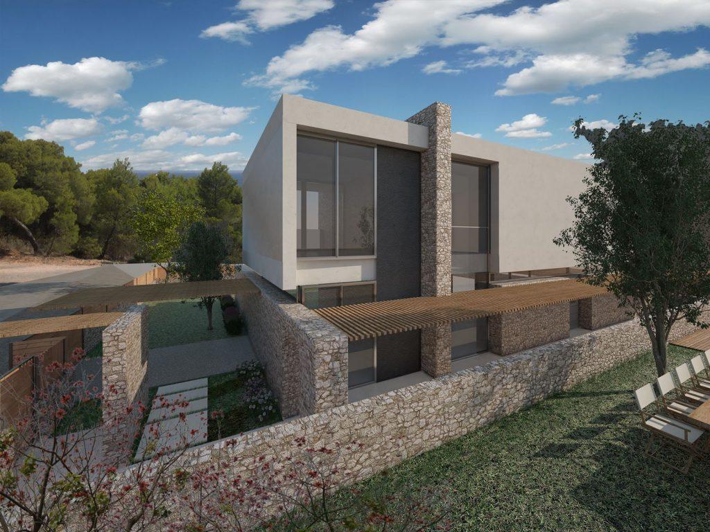 Two Modern Two-Storey Residences in Porto Heli