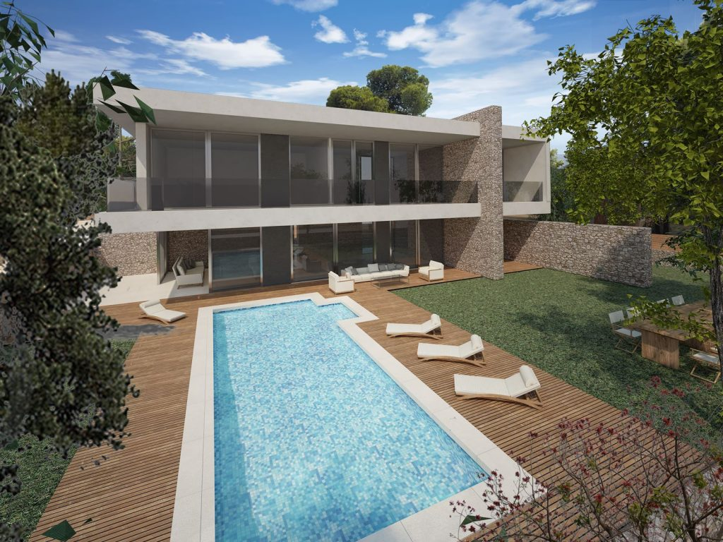 Two Modern Two-Storey Residences in Porto Heli