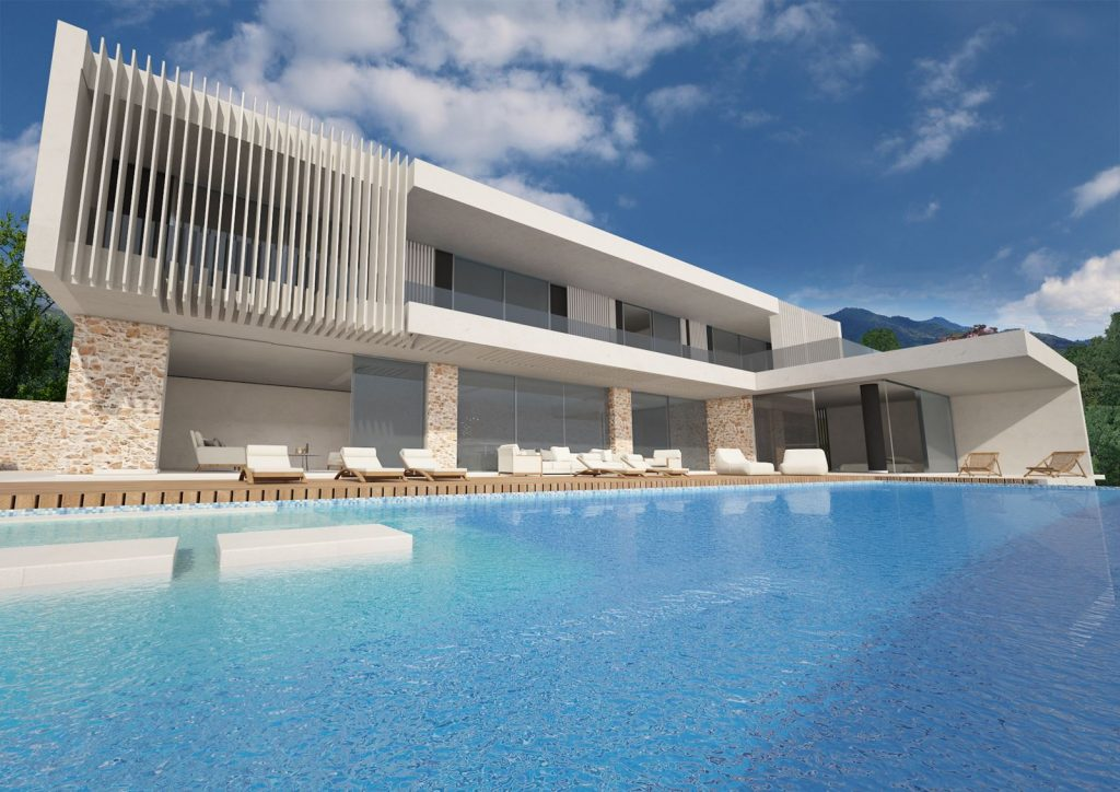Modern Two-Storey Villa in Corfu