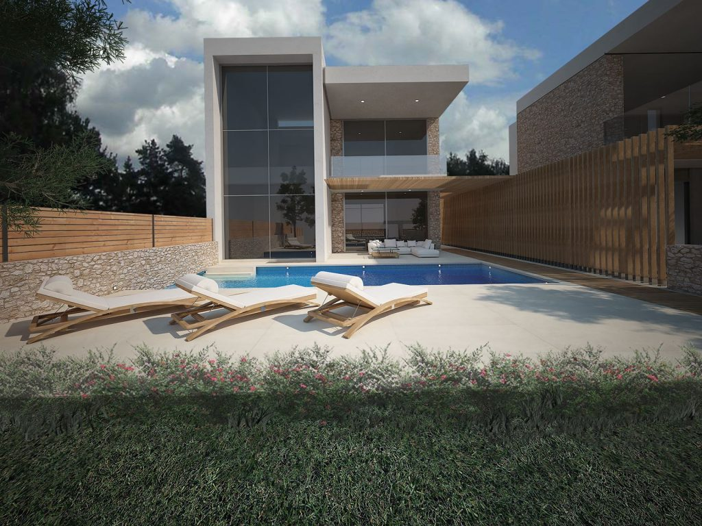 Three Modern Two-Storey Residences in Porto Heli