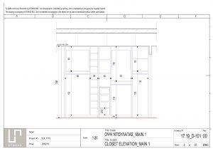 Detail Design Wooden Closet